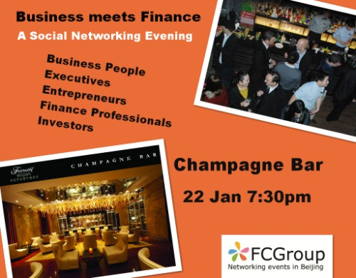 This networking event in Beijing is for Business People, Executives, Entrepreneurs, Finance Professionals, Investors, Lawyers, Start-Uppers